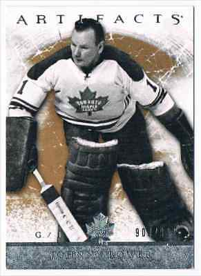 2012-13 Artifacts Johnny Bower 900/999 Toronto Maple Leafs #111