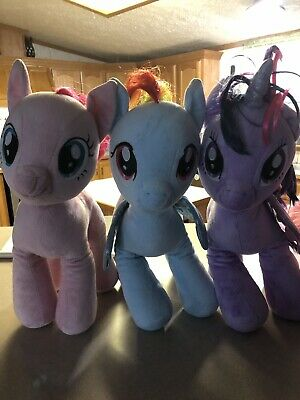 Lot Of 3 Build A Bear My Little Pony 16'' Tall