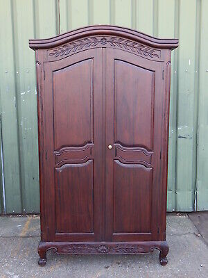 Stunning french provincial style wardrobe armoire / tv entertainment cabinet