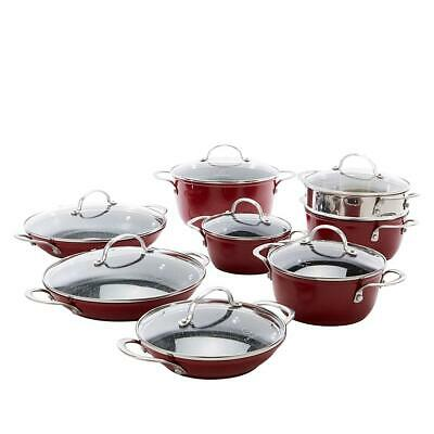 Curtis Stone Dura Pan Nonstick 15 piece Nesting Cookware Set