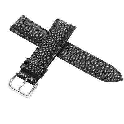 18mm/20mm/22mm/24mm Replacement Watch Band Genuine Leather Pin Buckle for Unisex