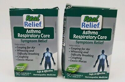 2/ Real Relief Asthma Respiratory Care 90 tablets Sealed Homeopathic EXP 2022