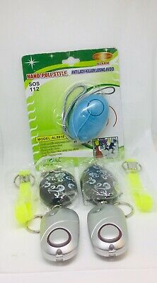 Safe Sound Personal Alarm Keychain LED Light 130db Self-Defense Siren LOT OF 5