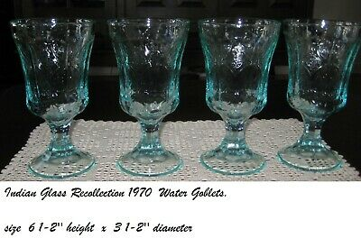 indiana  recollection footed glasses set