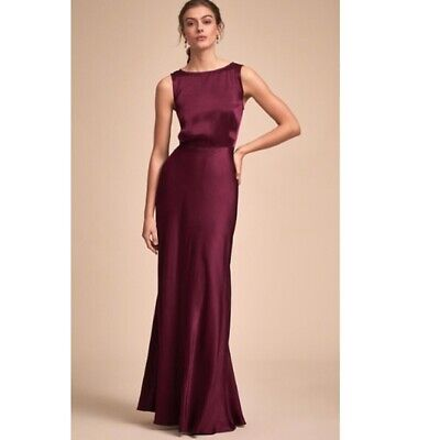 1d87031783f0 Women's $250 NEW BHLDN Ghost London Alexia black cherry gown dress! Size S