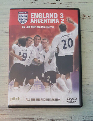 NM England 3 Argentina 2 (2006) DVD Authentic US Release Full Match Nov 2005