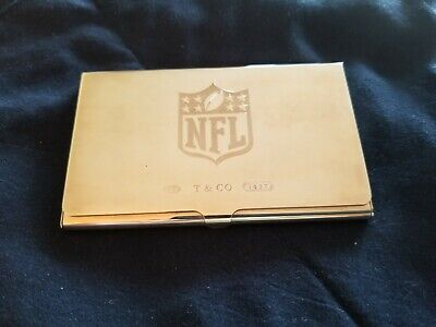 Tiffany & Co. Sterling NFL (National Football League) Business Card Holder
