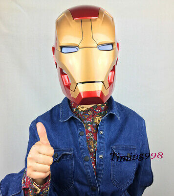 CATTOYS 1:1 Iron Man MK42 Helmet  Full Metal Version Manual Open Can Wear LED