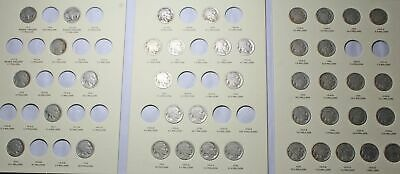 Buffalo Nickel Collection, near complete, 41 coins total