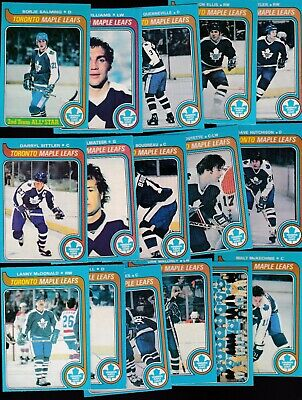 1979 O-PEE-CHEE Team SET Lot of 16 Toronto MAPLE LEAFS NM+ SITTLER Tiger  OPC