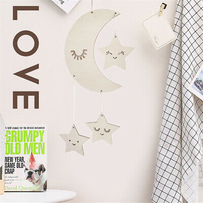 Stars Home Ornaments Photography Props Baby Room Decoration Wooden Wall Hanging