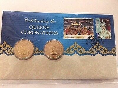 2013 PNC CELEBRATING THE QUEENS' CORONATIONS 2x Limited Edition RARE $1 coins