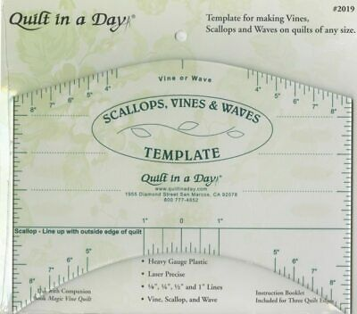 Scallop, Vine & Waves Template from Quilt in a Day