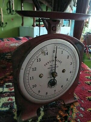 Vintage Persinware Red Colour Scales fully Metal