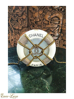 $17,000 2018 Chanel Ivory Creme Resin Rescue Wheel Minaudiere Cc Crystal Bag