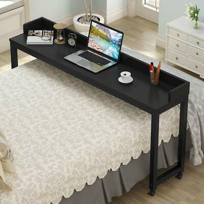 Portable Over Bed Table Multipurpose Home Hospital Desk With Wheels Bar Tray Pub