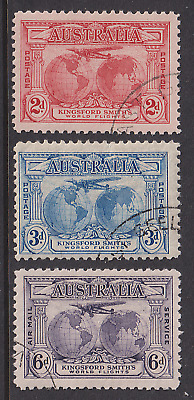AUSTRALIA · 1931: KINGSFORD SMITH trio · SG 121/23 · c.v.£22