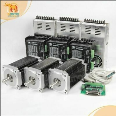 Top Selling  3 Axis Nema 34 stepper motor 1700oz  6A+driver 24-80v  cnc kit