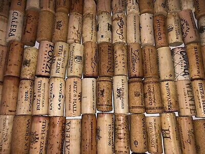 100+ Wine Corks, Natural Cork from Red & White Wines DIY Crafts Scrapbook Art