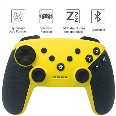 Pro Wireless Controller For Nintendo Switch / PS3 Console Yellow GamePad