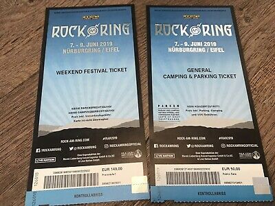 Rock am Ring 2019 - Weekend Festival Ticket - + General Camping & Parking