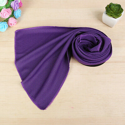 Instant Cooling Towel Ice Cold Sport Gym Running Sporting Chilly Yoga Pad Purple