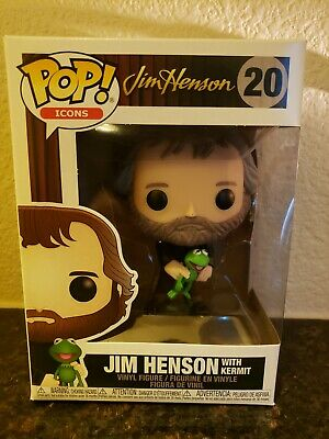 Funko Pop! Icons Jim Henson With Kermit Pop Figure (In Stock)