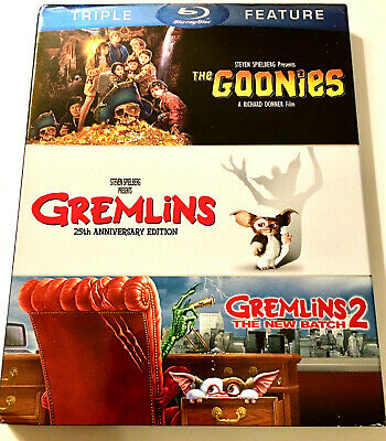 The Goonies / Gremlins 1 & 2: The New Batch - SLIPCOVER ONLY!! NO Blu-ray Discs