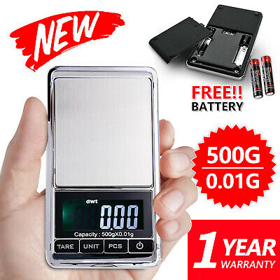 MINI 500g 0.01 Digtal Pocket Scales Jewellery Precision Electronic Weight Lab