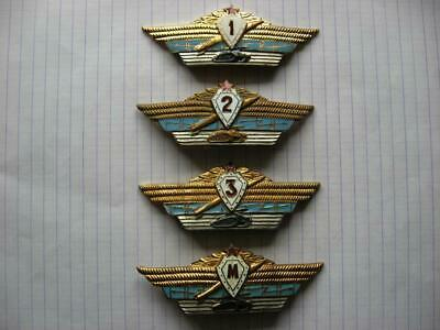 4 ICON USSR RUSSIAN SOVIET BADGE ARMY SPECIALIST OFFICER 1,2,3, М(master) class