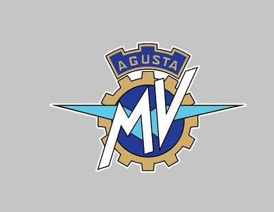 MV Agusta 175mm large decal sticker motorcycle classic bike car rally