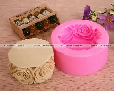 Soap Mold Candle Molds Round Rose Flowers Silicone Mould For Candy Craft