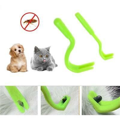 Pets Tick Removal Tool Dual Teeth Tick Twister Cats Dogs Comb Cleaning Supplies