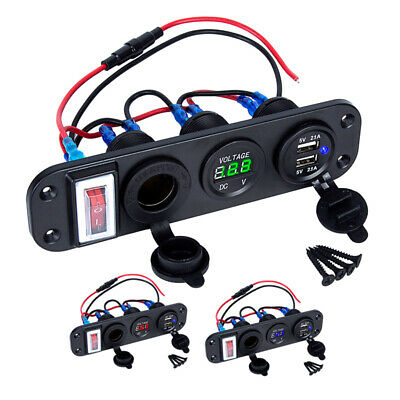 12V Car Boat Cigarette Lighter Socket 4.2A Dual USB Port Charger Power Outlet AU