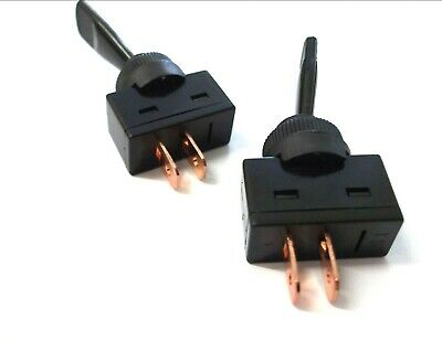 Toggle switch. On/Off. Flick switch. Plastic. Fits 12.5mm round hole. 20A. 12V.