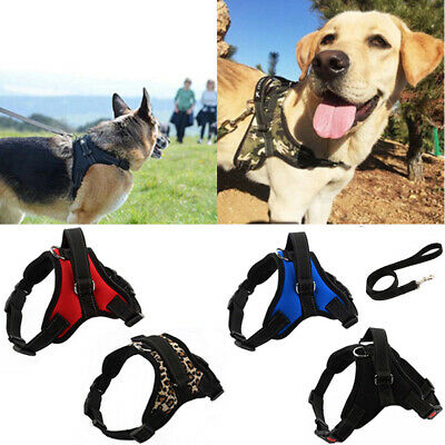 No-pull Dog Harness Outdoor Adventure Pet Vest Padded Handle Small / Large #W