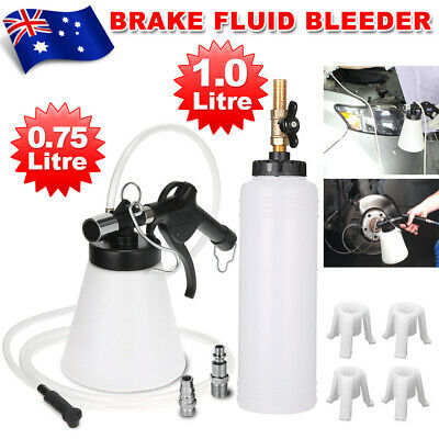 Air Brake Bleeder Clutch Vacuum Oil Bleeding Extractor Fluid Fill Adapters AU