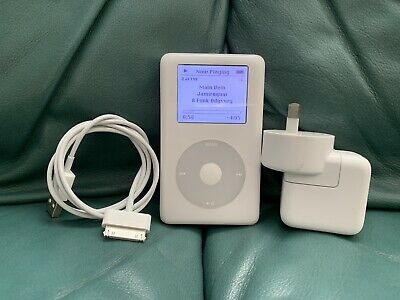 Apple iPod 4th generation 40GB + New Battery + Charger + Cable