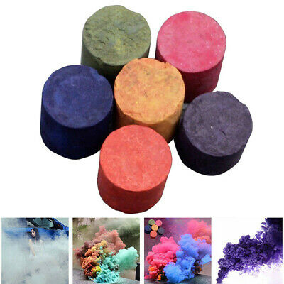 6 Color Smoke Cake Smoke Effect Show Round Bomb Stage Photography Aid Toy 4Pcs