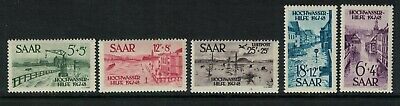 Germany stamps SAAR 1948 flood relief fund - french occ. sg252-256 Mint NH fresh