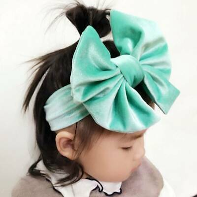 Toddler Girls Baby Big Bow Hairbands Headband Stretch Turban Knot Head Wraps