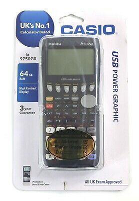 Casio FX-9750GII Graphic Calculator Blue USB Port
