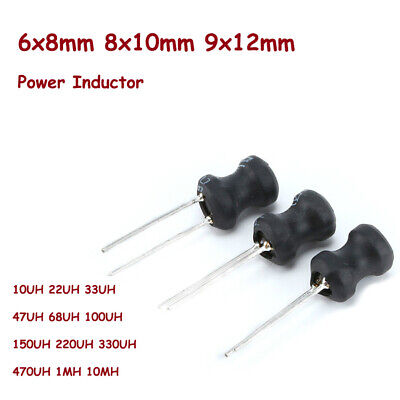 6x8/8x10/9x12mm Power Inductor 10UH to 10MH Radial Choke DR CORE Word Inductance