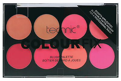 Technic Hot Pink Red Coral Colour Fix Blusher Palette Peach Bronze Dusky New