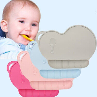 Silicone Baby Toddler Dining Table Suction Placemat Non Slip Feeding Mat Bowl