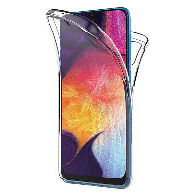 Hülle Cover 360° Clear Full TPU Gel Silikon Samsung Galaxy A50 SM-A505F 6.4""
