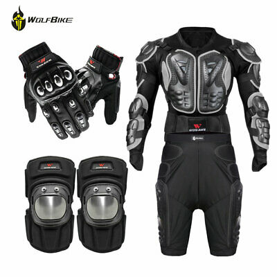 Full Body Armour Jacket Motorcycle Bike Protective Gear Kneepad Hip Guard Gloves