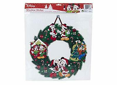 40cm Disney Wreath Window Sticker-Christmas Decorations-Disney Christmas- PM174