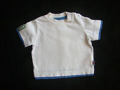 Baby clothes BOY 0-3m Mothercare white, mid-blue short sleeve t-shirt ex.cond!