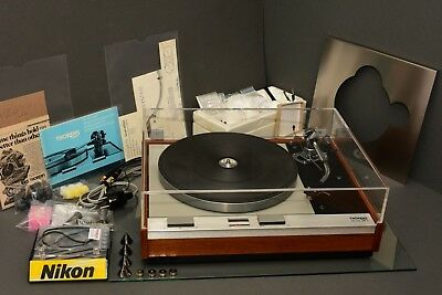 thorens td 125 mk II, serviced, 99,8% mint, manuals, sme 3009 s2 improved,extras